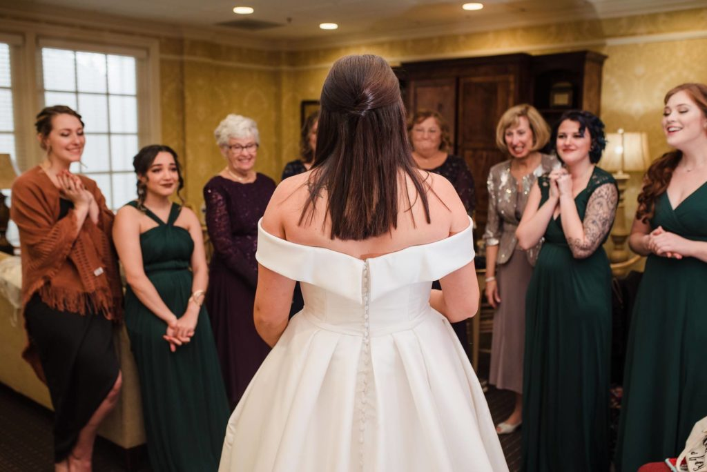 first look bridesmaids jess