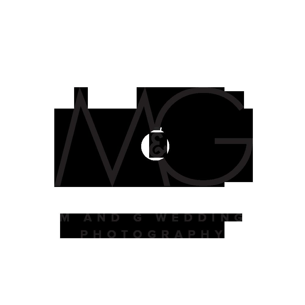 m and g wedding photography logo