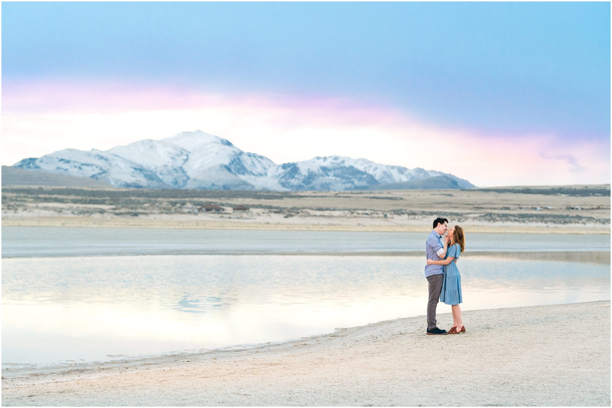 antelope island engagement jessie and dallin photography
