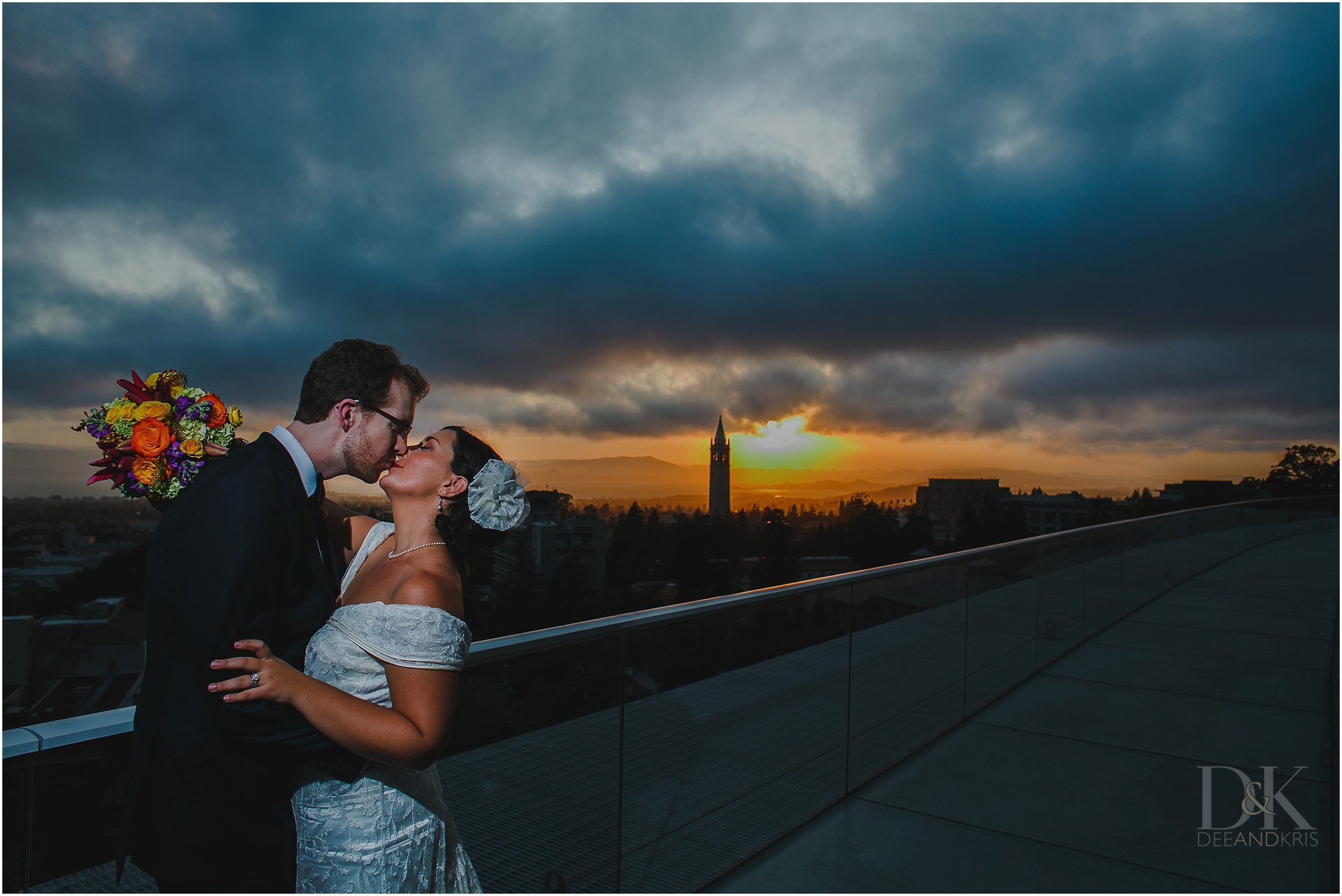 california memorial stadium wedding dee and kris photography