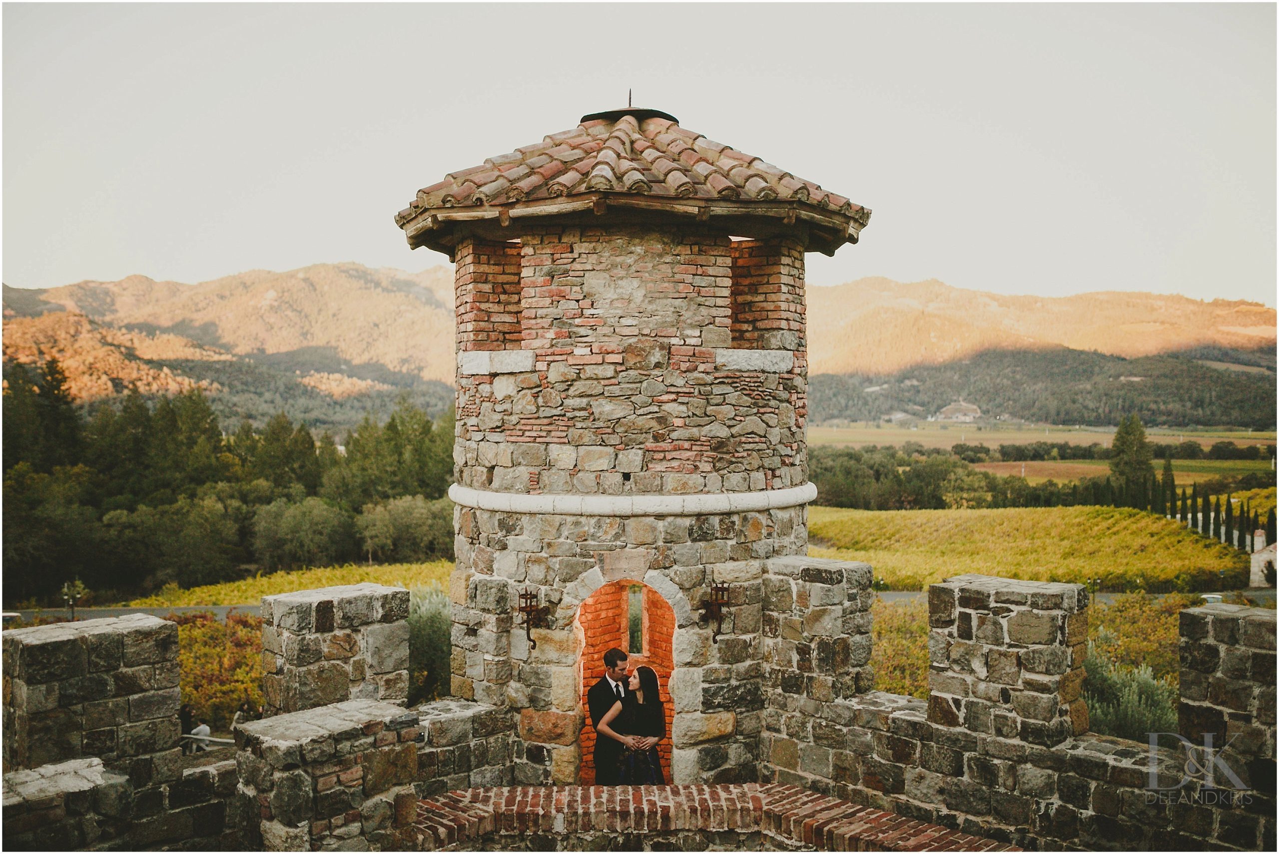 castello di amorosa engagement dee and kris photography