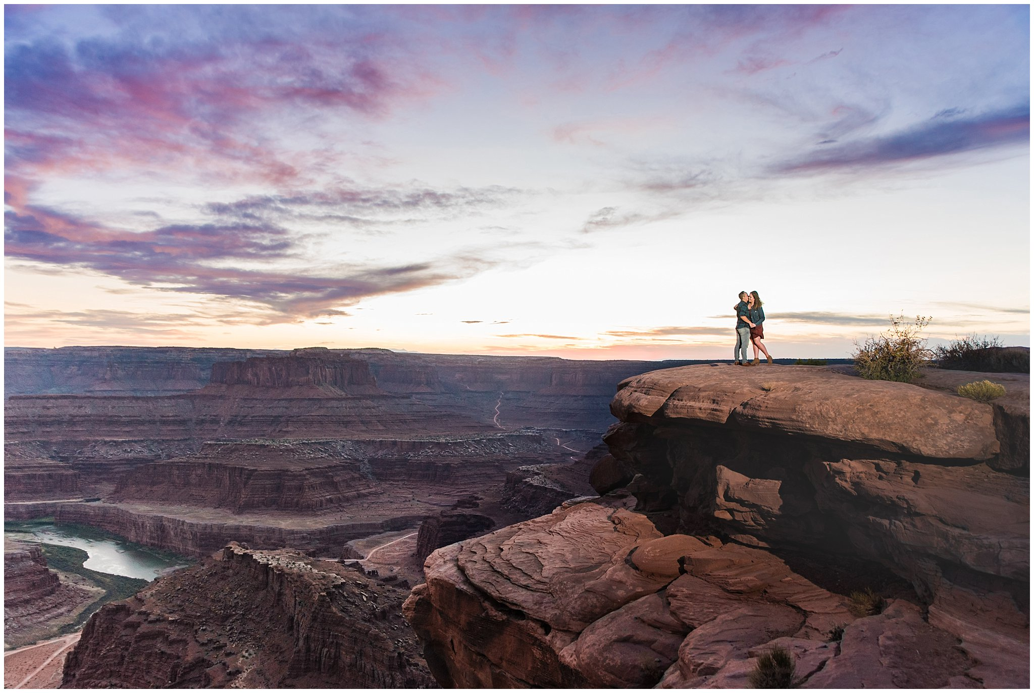 dead horse point engagement jessie and dallin photography