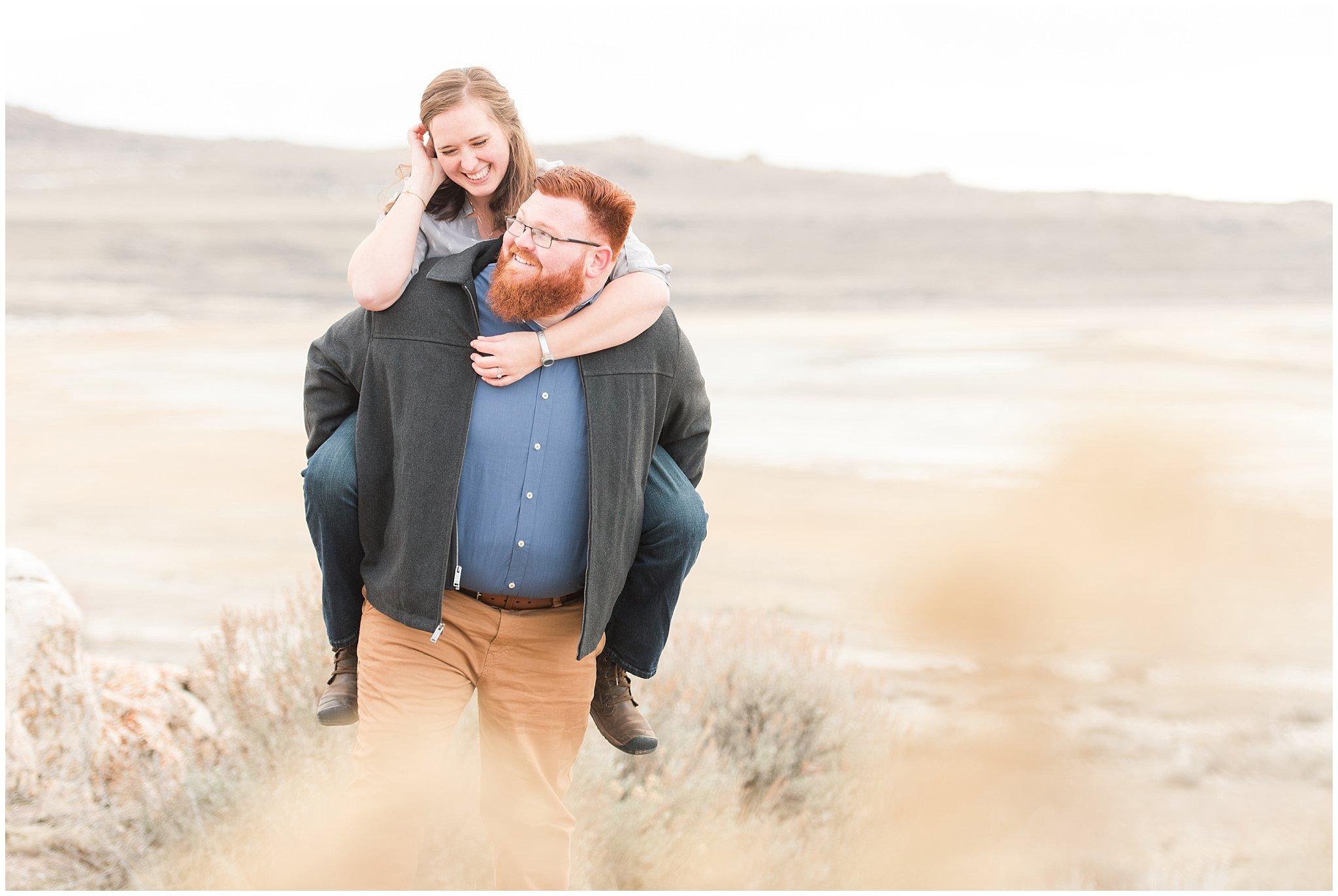 great salt lake engagement jessie and dallin photography