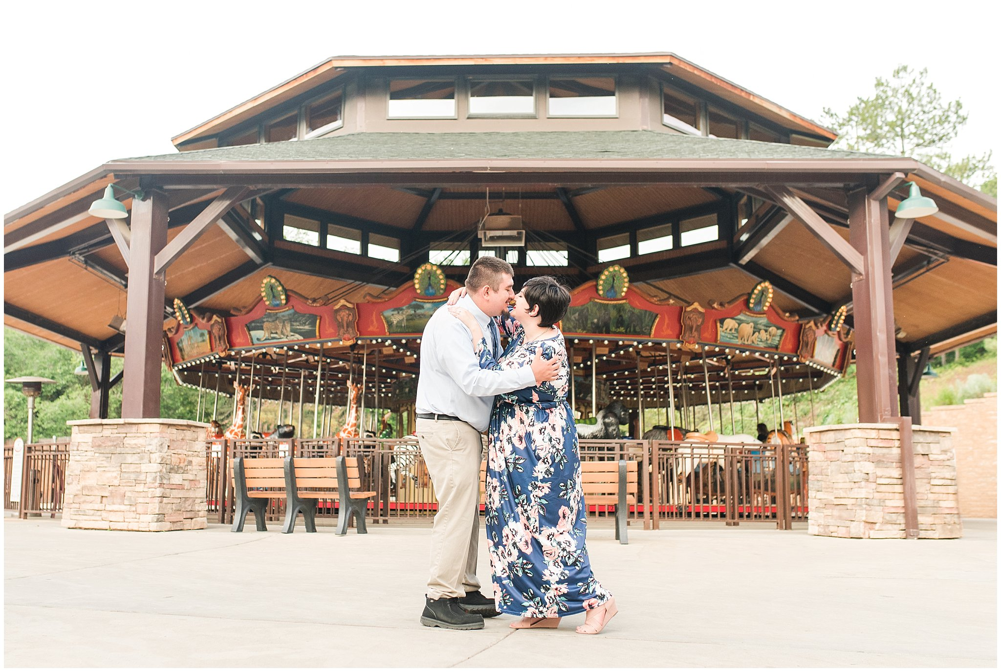 hogle zoo engagement jessie and dallin photography