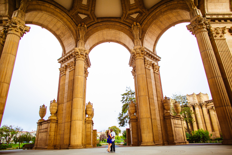 palace of fine arts engagement dee and kris photography