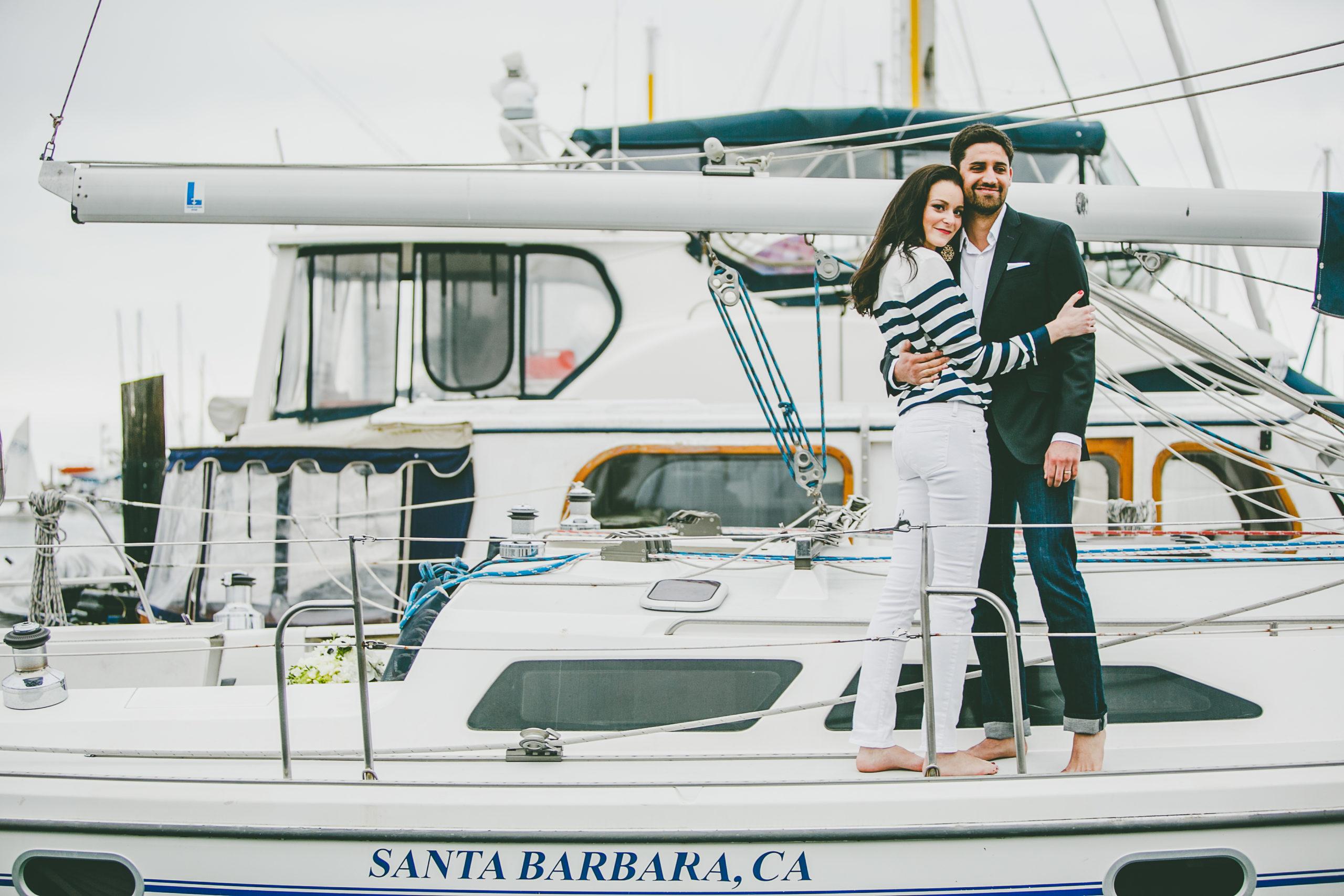 santa barbara sailing center engagement dee and kris photography