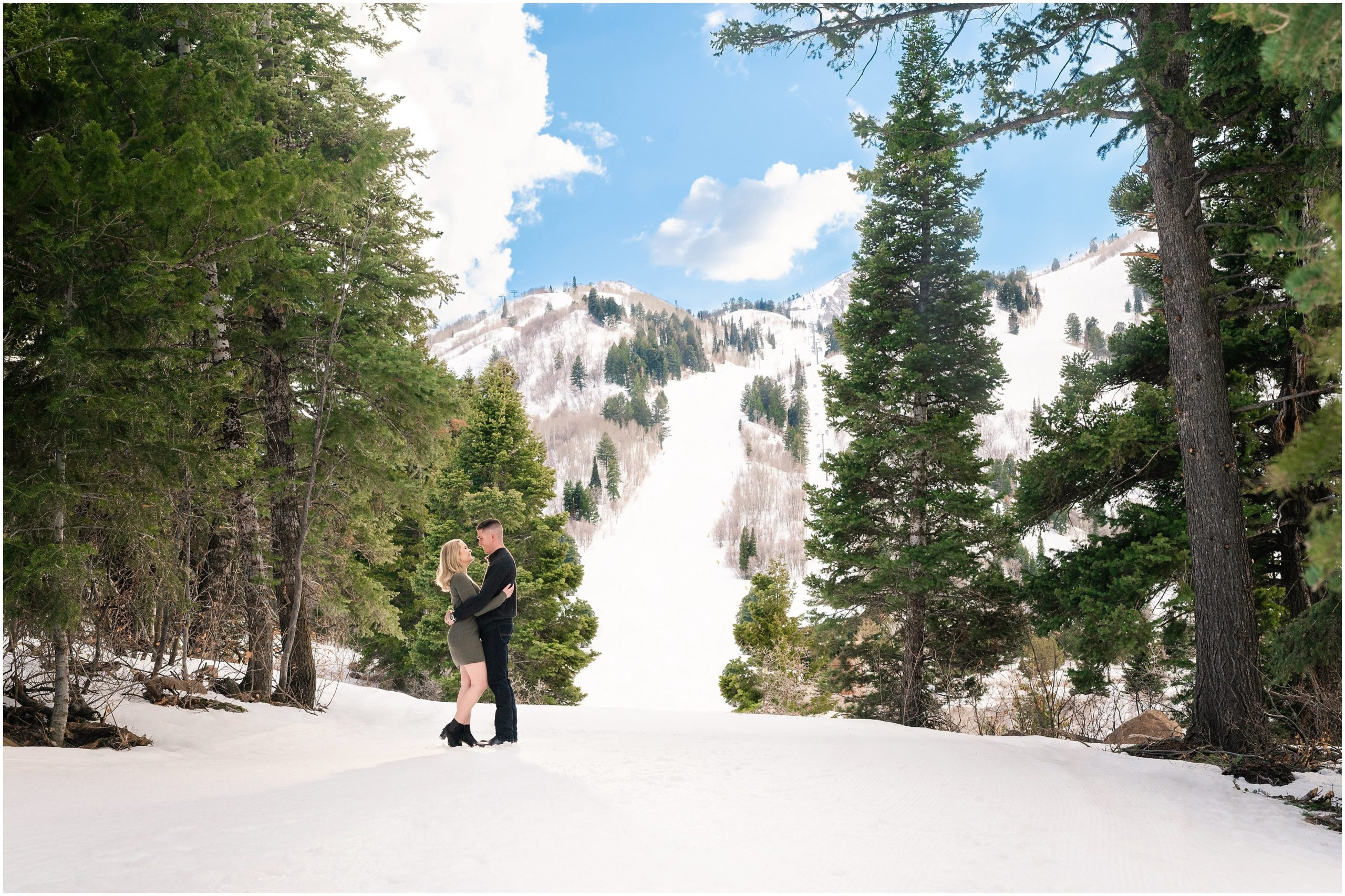 snowbasin resort engagement jessie and dallin photography