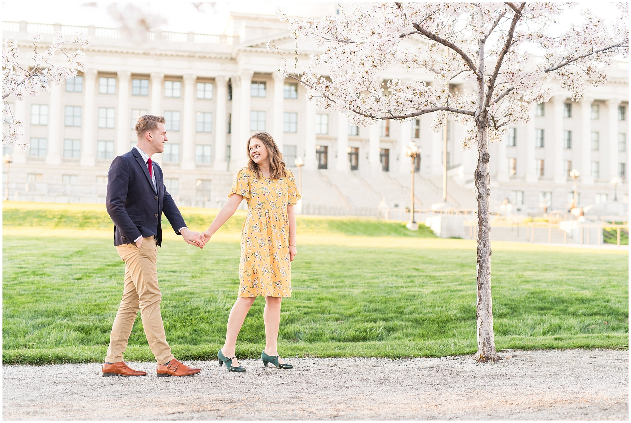 utah state capitol engagement jessie and dallin photography