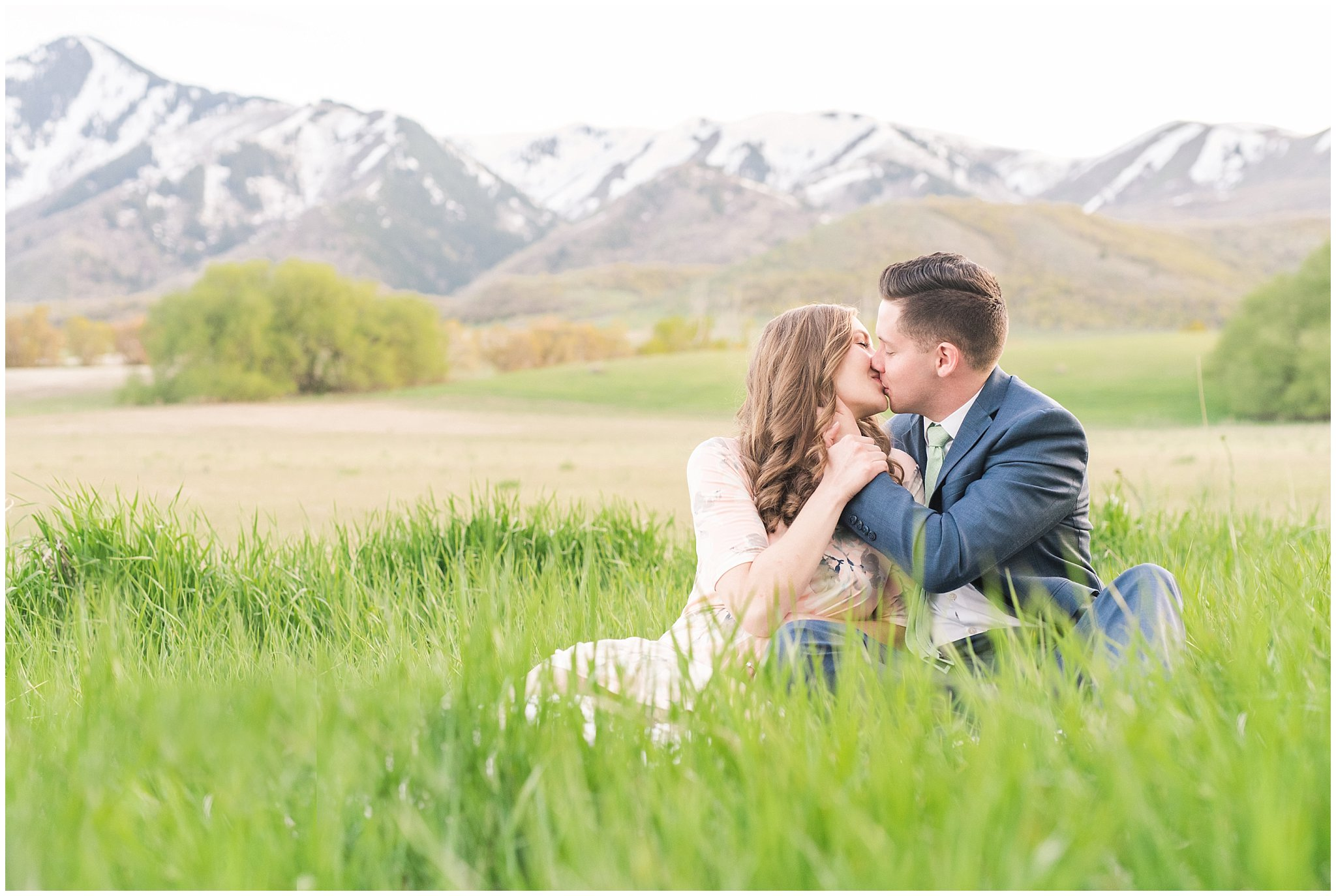 wellsville mountain engagement jessie and dallin photography