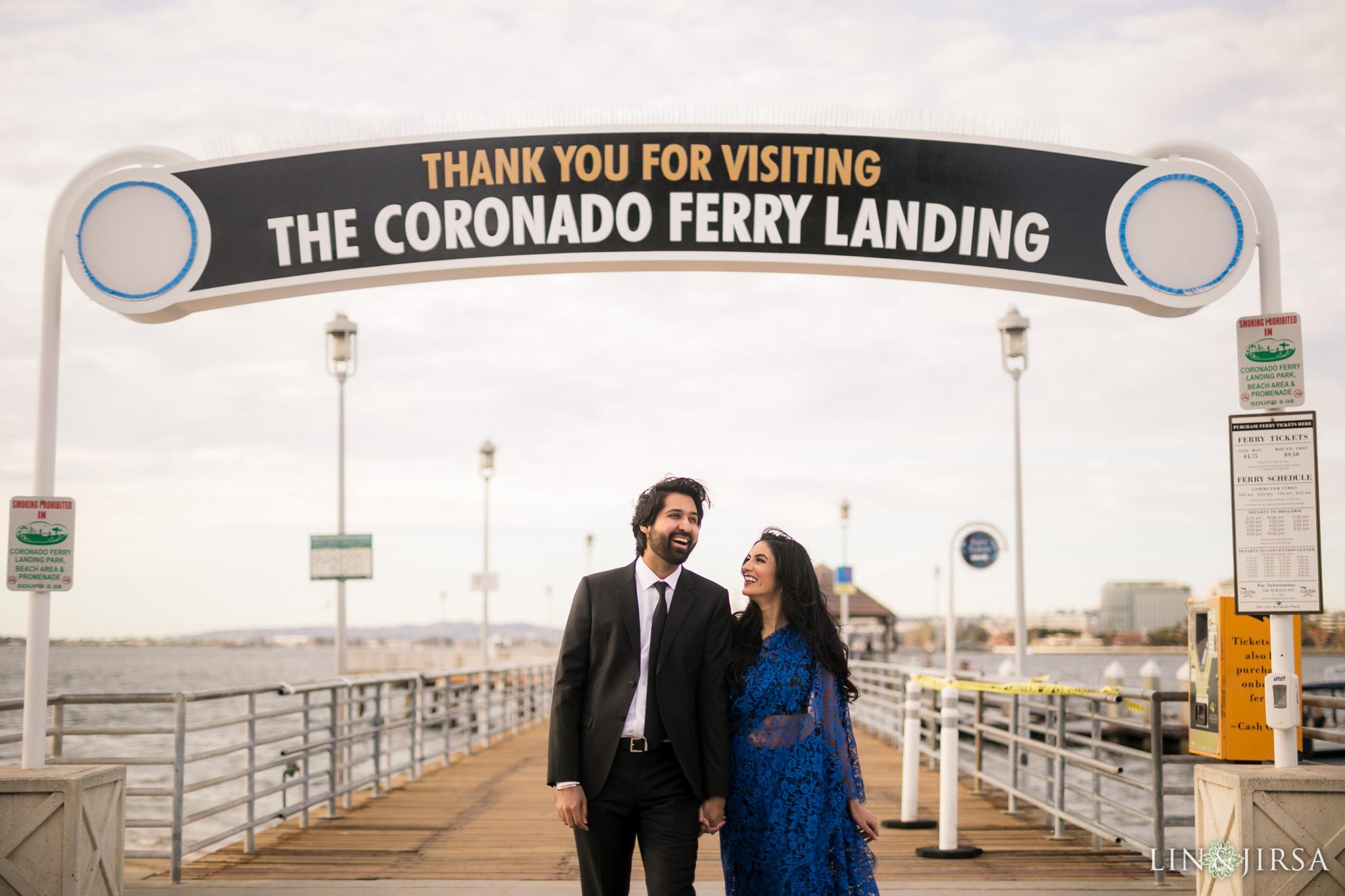 coronado ferry landing engagement lin and jirsa photography