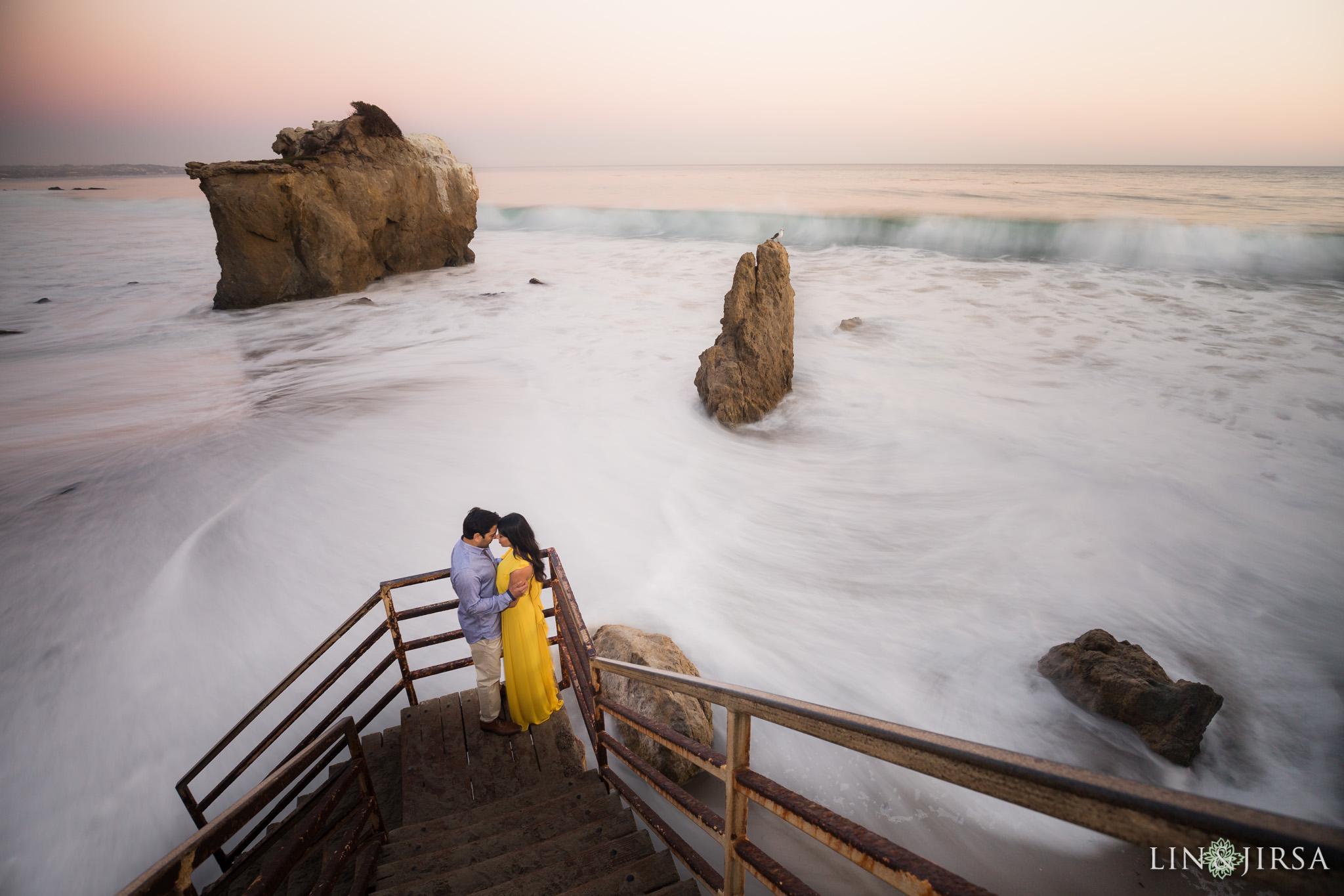 el matador state beach engagement lin and jirsa photography