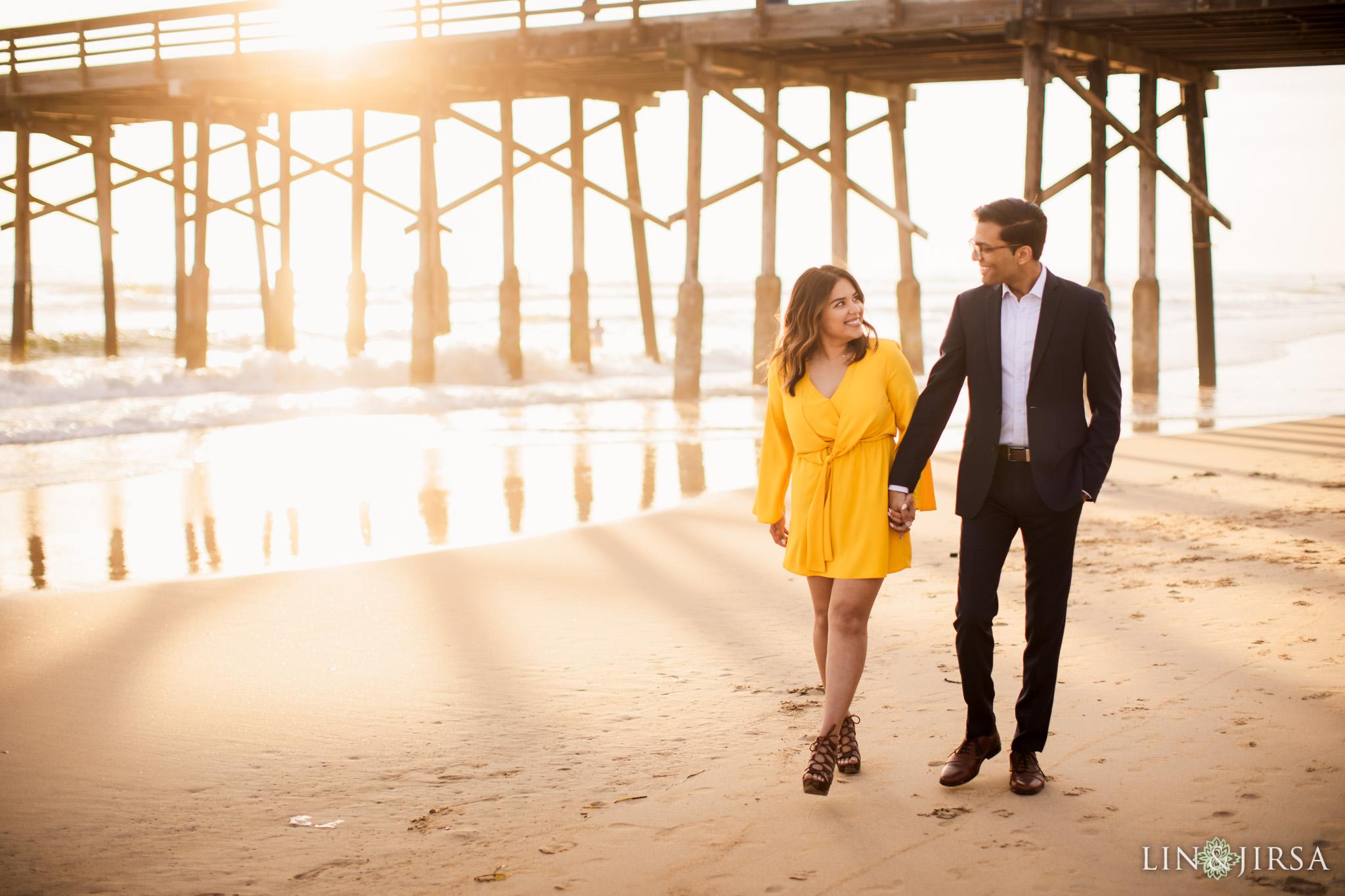newport beach pier engagement lin and jirsa photography