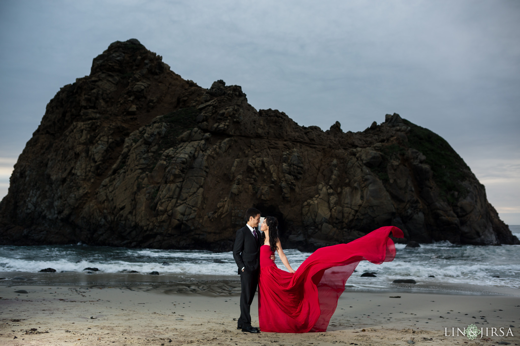 pfeiffer beach engagement lin and jirsa photography