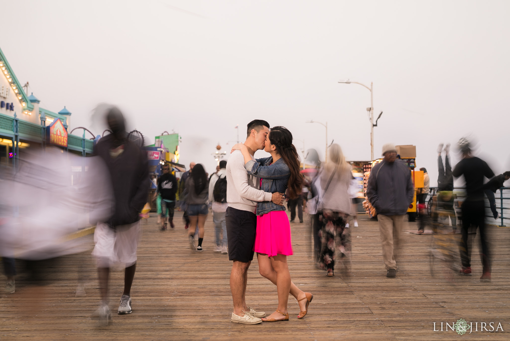 santa monica pier engagement lin and jirsa photography