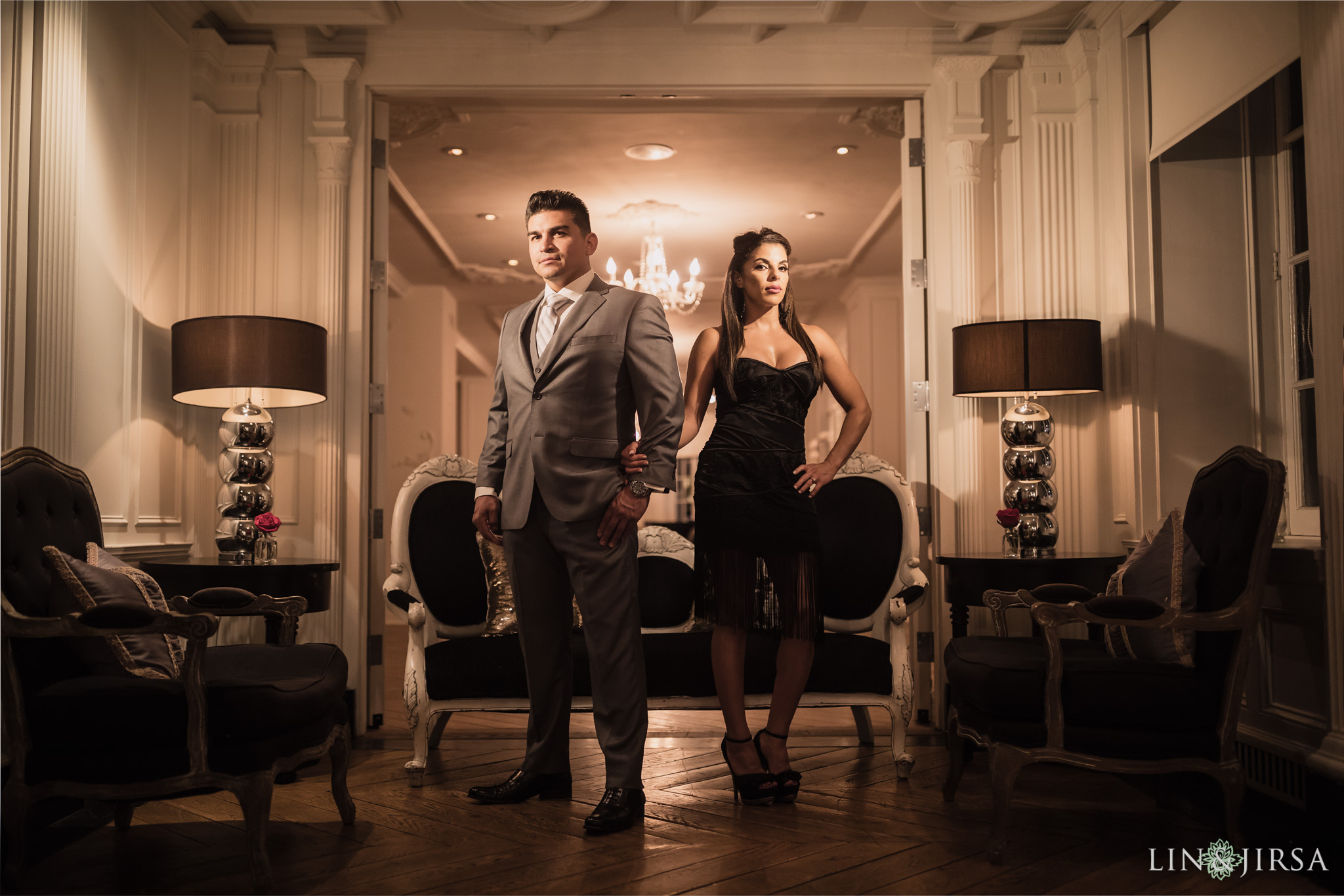 the culver hotel engagement lin and jirsa photography